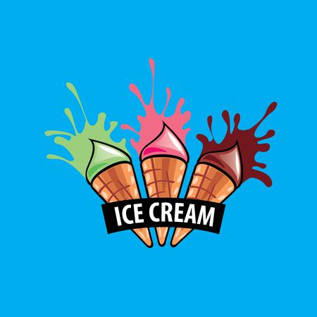 logo ice cream Illustration