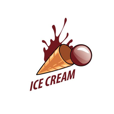 logo ice cream Stock Photo