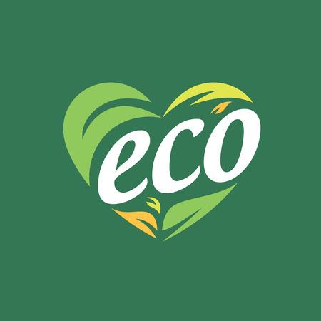 logo vector eco Stock Illustratie