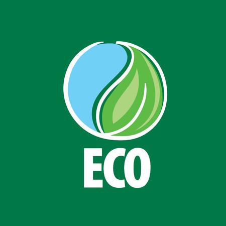 template logo design eco. Vector illustration icon