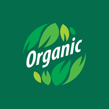 Vector logo organic Illustration