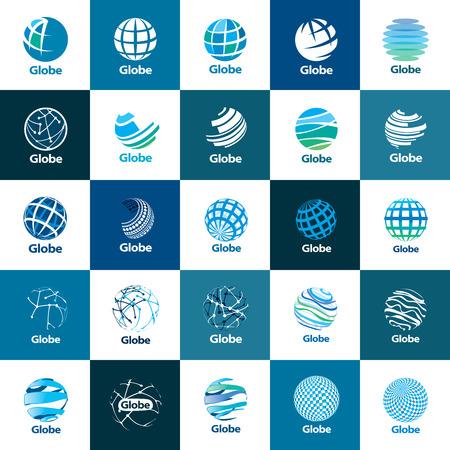 template logo design globe. Vector illustration icon Illustration