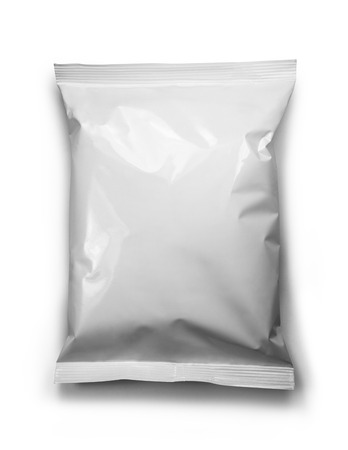 foil: white package template Stock Photo