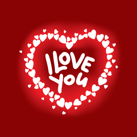 I love you with heart icon.