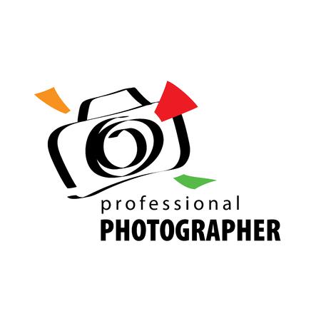 vector logo for photographer. Illustration drawn camera Stock Photo