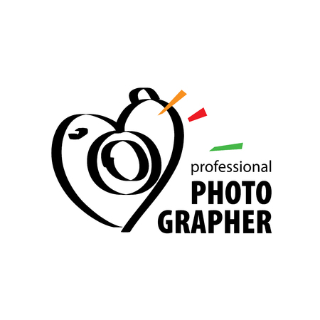 Vector logo for photographer. Illustration drawn camera
