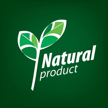 leaf logo: Natural product logo
