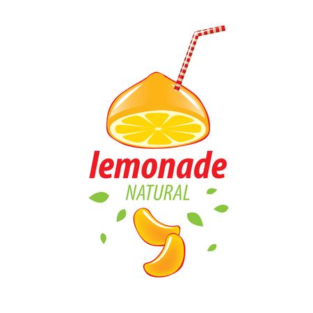Fresh lemonade icon illustration. Illustration