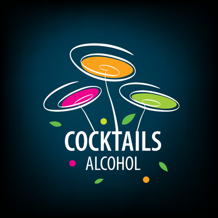 alcoholic cocktails logo Illustration
