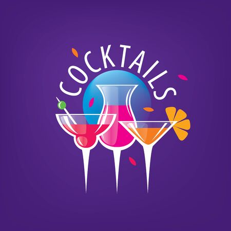 alcoholic cocktails logo Stock Photo