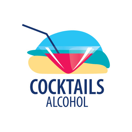 Alcoholic cocktails emblem Illustration