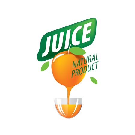 Vector icon fresh juice from natural products Illustration