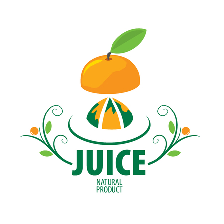 Fresh juice emblem icon