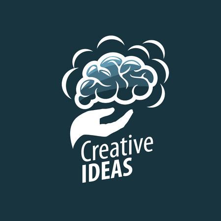 Brain creative ideas logo concept design template. Illustration