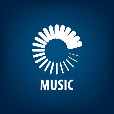 vector logo music  イラスト・ベクター素材