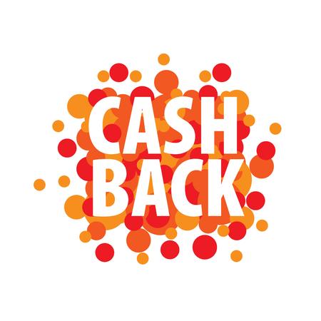 Isolated sticker, labels, emblem cash back. Template vector illustration Illustration