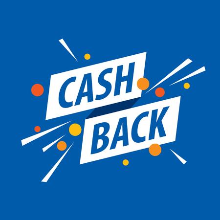 emblem cash back 向量圖像