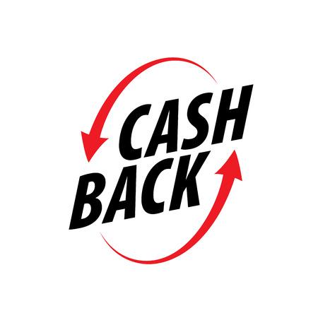 Isolated sticker, labels, emblem Cash Back. Template vector illustration