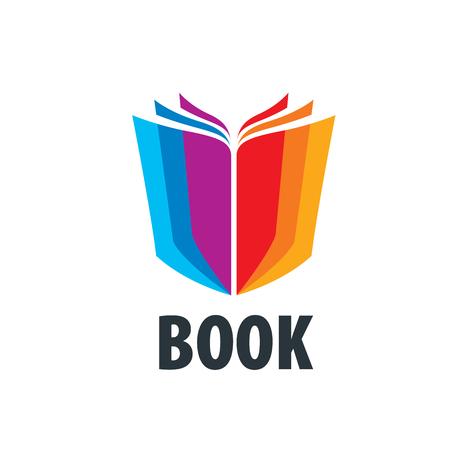 책과 지식의 추상 로고. 일러스트, 벡터 템플릿