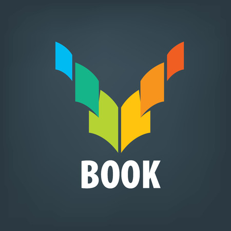 Abstract of books and knowledge. Illustration, vector template
