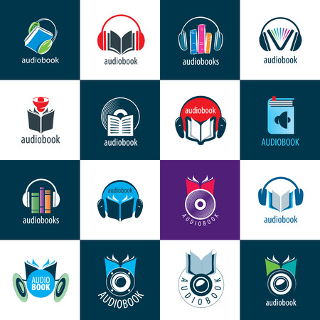 Audiobook. Vector logo template Stockfoto