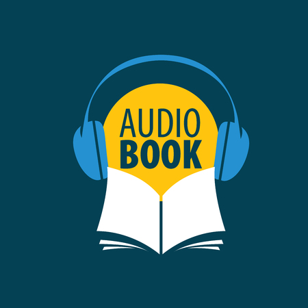 Audiobook logo concept design template.
