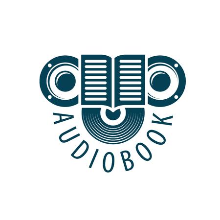 Audiobook. Vector logo template Stock Photo