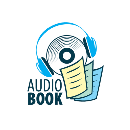 Audiobook. Vector logo template Stock Illustratie