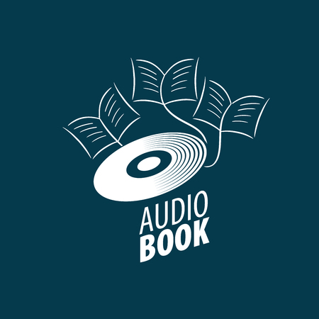 Audiobook. Vector logo template Illustration