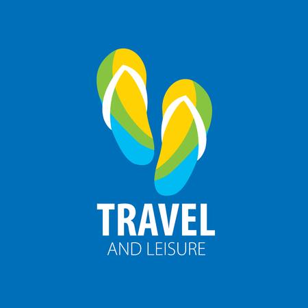 Vector logo travel on blue background.
