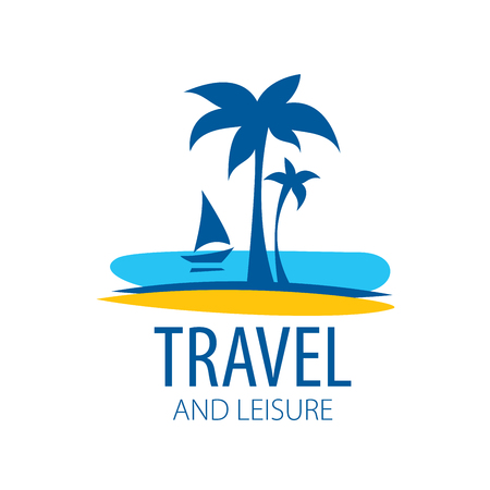 Vector logo travel on white background. Illustration