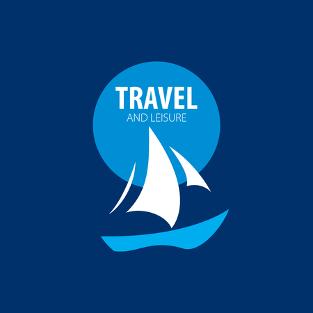 Template Vector Yacht emblem Illustration for travel and leisure