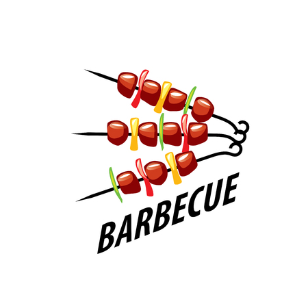Barbecue party symbol template design.