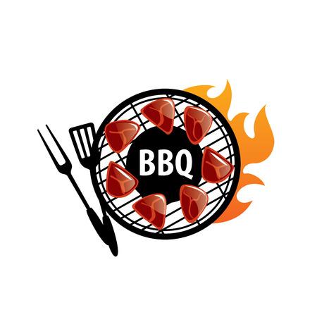 Barbecue partij symbool sjabloonontwerp.