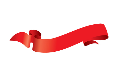 Red ribbon icon illustration.
