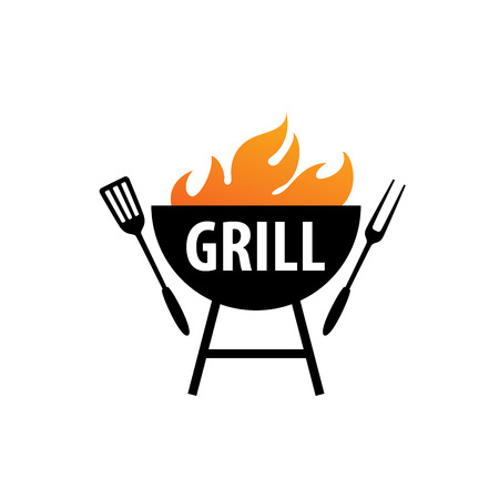 Barbecue party grill icon Illustration