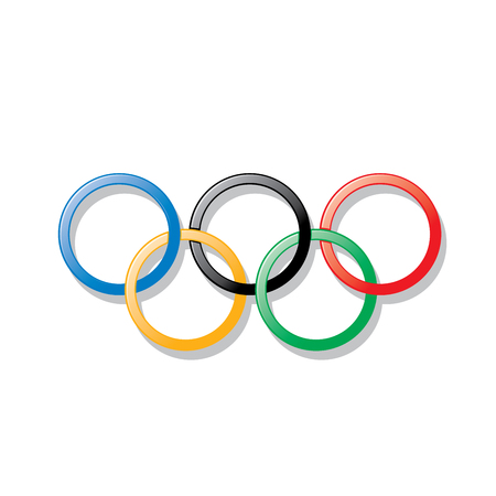 Sign of the Olympic rings Vector illustration.