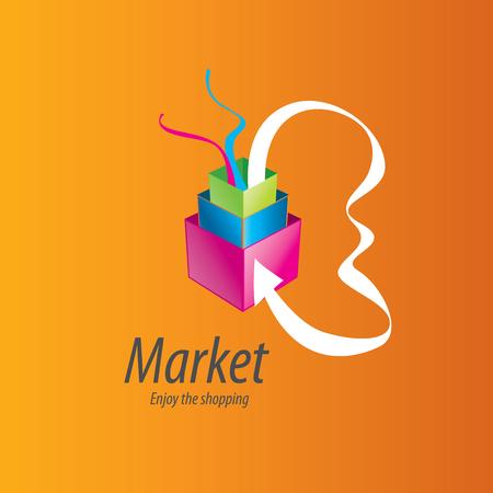 Vector shopping logo.