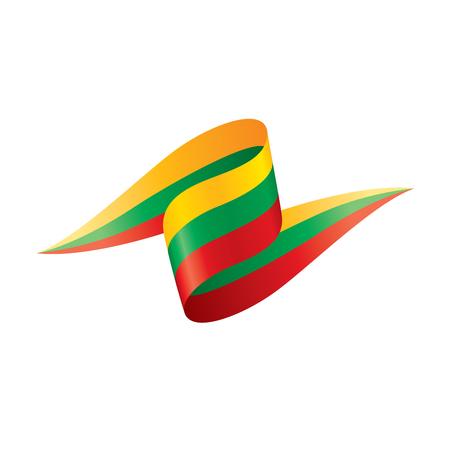リトアニアフラグ、ベクトルイラスト