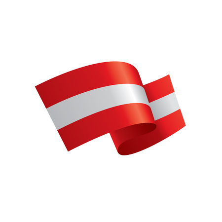 Austria flag, vector illustration Banque d'images - 92736822
