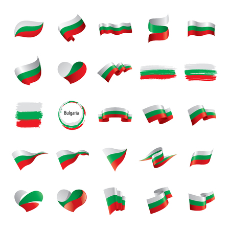 Bulgaria flag, vector illustration on a white background 向量圖像