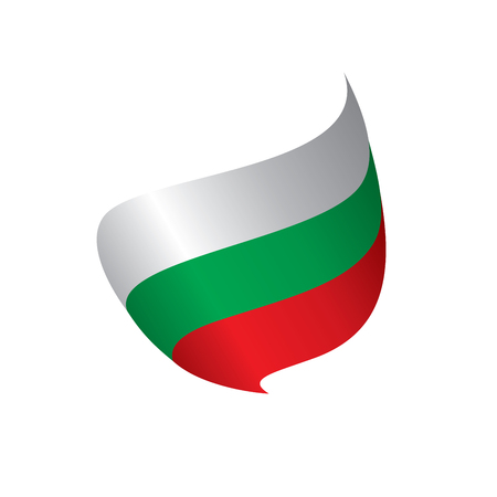 Bulgaria flag, vector illustration.