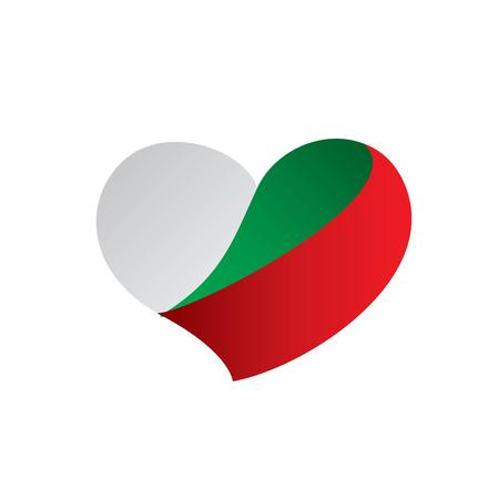 Bulgaria flag, vector illustration on a white background.