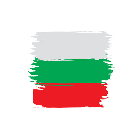 Bulgaria flag, vector illustration.