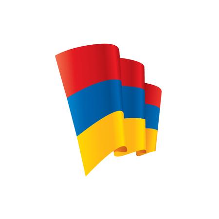 Armenia flag, vector illustration. Illustration