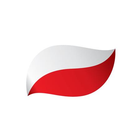 Poland flag, vector illustration on a white background Stock Illustratie