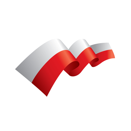 Vlag van Polen, vectorillustratie