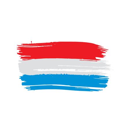 Netherlands flag, vector illustration 일러스트