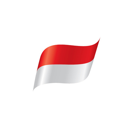 Indonesia flag, vector illustration on a white background. Stock Illustratie