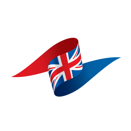 Flag of the United Kingdom, vector. 矢量图像